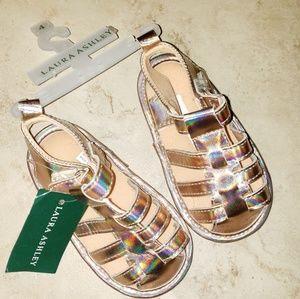 New Laura Ashley Gold Gladiator Sandals NWT